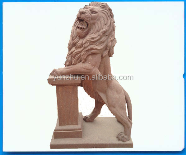 Standing Stone Lions Statues, Standing Stone Lions Statues Suppliers And  Manufacturers At Alibaba.com