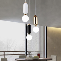 Nordic post Modern creative glass ball suspension bedside pendant lamp