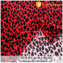 Fashionable printed luxury stretch velour polyester spandex garment fabric