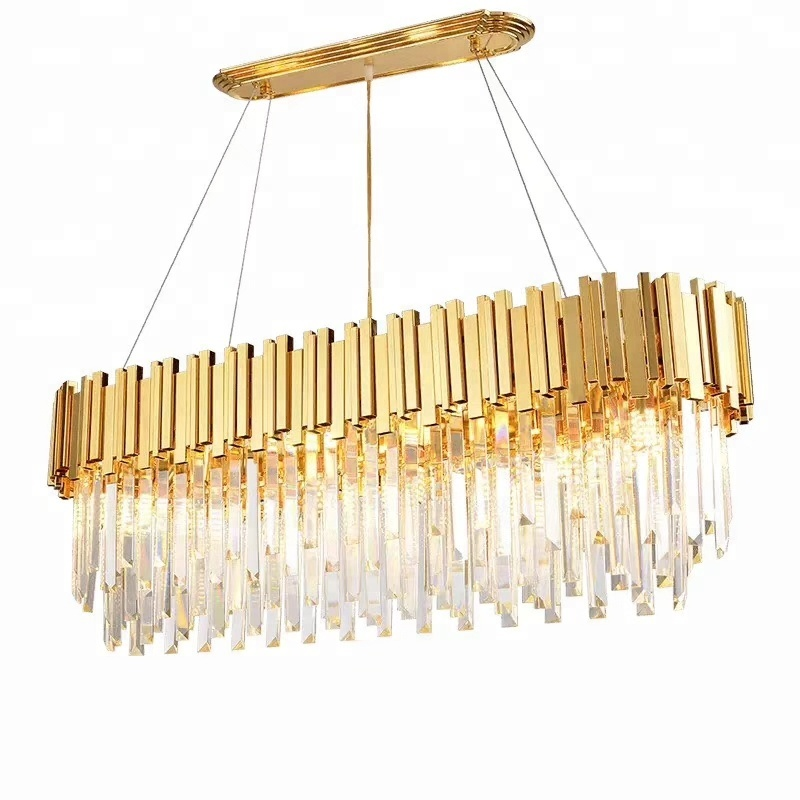 gold luxury crystal chandelier lighting <strong>modern</strong>