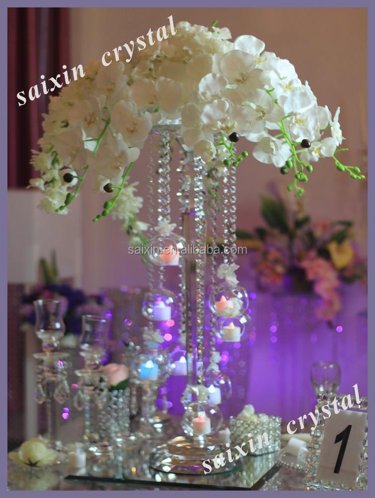 New Crystal Centerpiece Wedding Decoration Zt-203 - Buy Wedding ...
