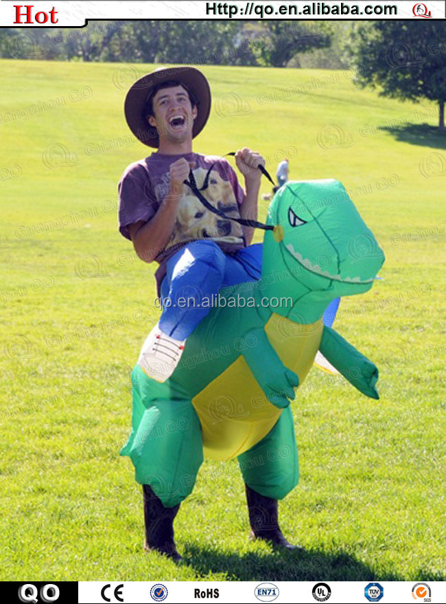 Professional funny adult dinosaur costume inflatable for sale