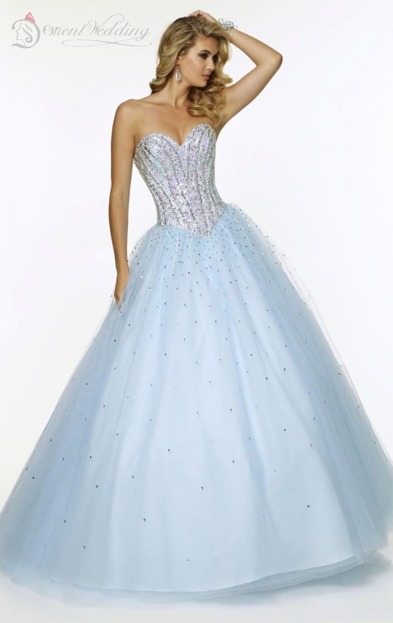 76db6187dc3f Get Quotations · Long Prom Ball Gown 2015 Sxey Sweetheart Sleeveless A Line  Corset Lace up Beads Crystal Tulle
