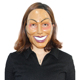 X-MERRY TOY Hot Sale The Purge Mask Cosplay 2017 Masks Full Face Plastic Female Smiling Face New Design Halloween Mask
