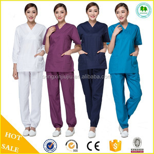 2015 New Fashion flexible europe hospital scrubs, standard textile scrubs
