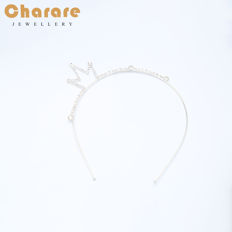 Skillful manufacture princess crowns headpiece for sale and glitered crown hairband