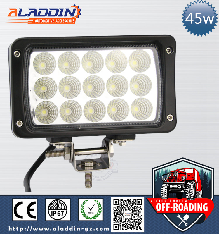 Factory direct offer 36 volt 5 rectangular 45w led work light forklift lights with Aluminum Housing
