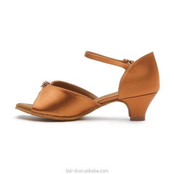 39b34e344 girls latin ballroom dance dress Satin Low Heel Children Cheap Latin Dance  Shoes for Girl