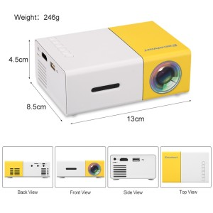 2018 Direct Factory Price battery powered led mini projector, the led Projector for Home Theater