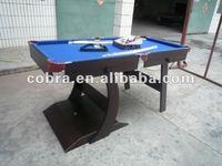 5 feet folding pool table, black matt, full sets accessory KBL-08A11