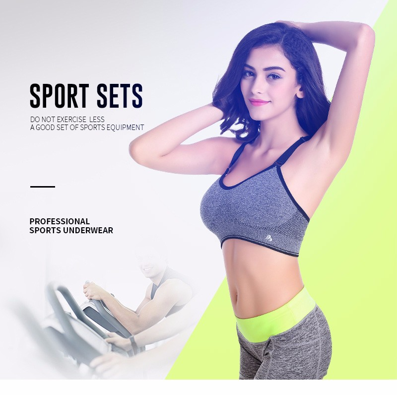 071f71a844 ... Running Sports Bra + Shorts Set Fitness Gym Push Up Seamless Bras Tops  Elastic Short Pants for Women. DC520 01 ...