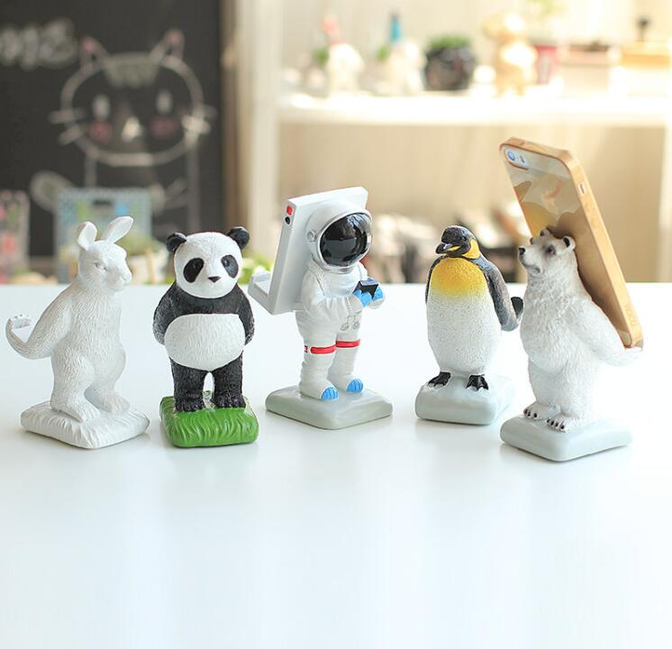 Resin Cartoon Panda Astronaut Shape desktop Mobile Phone Holder