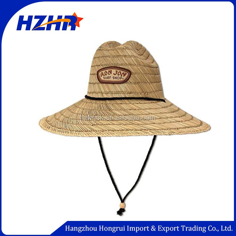 2d14168e043 wholesale custom embroidery logo straw hat with elastic band Australia  Market custom straw surf hats