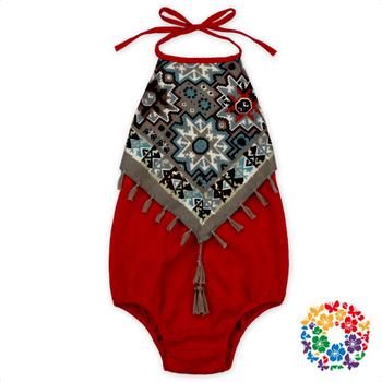 New Arrival Red Sleeveless Baby Rompers Cotton One Piece Halter Jumpsuit Stylish Soft Jumpsuit