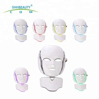SHHB Infrared Light Face and Neck Whitening Facial Mask Face Lifting LED light Therapy Mask