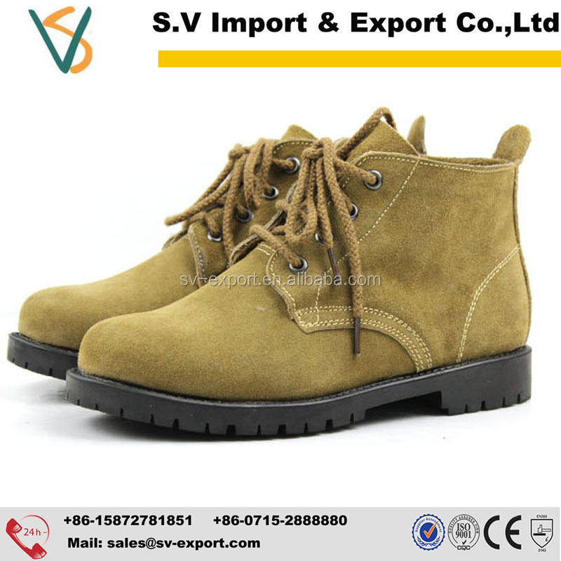 China cow split leather industrial safety shoes