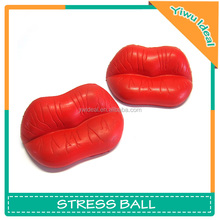 Promotion Soft Relief PU Lip Mouth Stress Ball