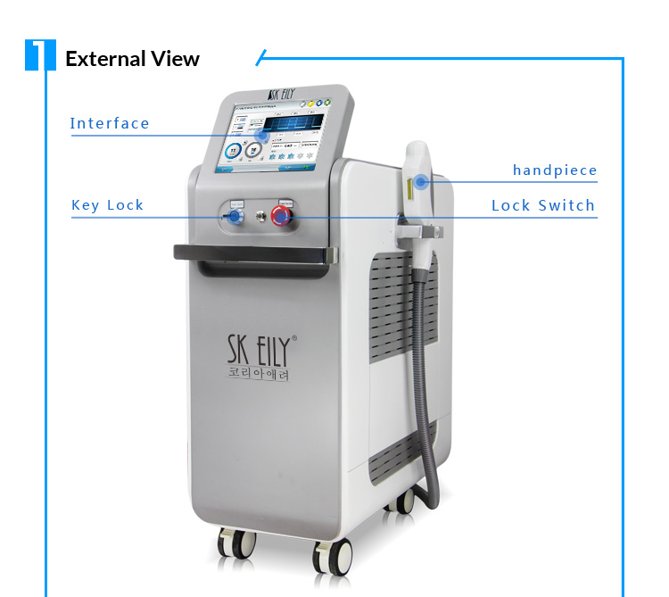CE approved ipl shr skin rejuvenation hair removal machine