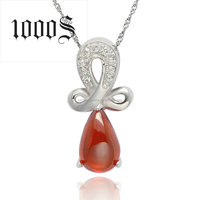 Sterling Silver Pendant Latest New Design for Ladies Ruby Gemstone Stone Pendant Jewelry
