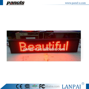P10 16*96 dots red color smd led display rs485 for outdoor use