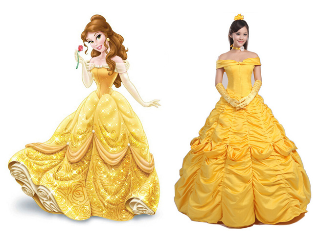 Buy Women Cosplay Belle Dress Beauty And The Beast Adult Princess Costume Party Yellow Gown Halloween Outfit Custom In Cheap Price On Alibaba