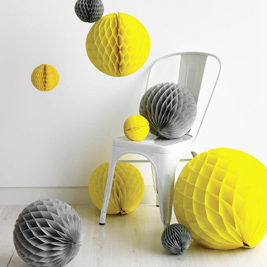 Paper Decoration Balls: 10inch 25cm Tissue Paper Honeycomb Balls 5PCS Decorative