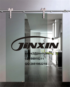 JINXIN glass shower doors sliding interior doors barn doors hardware stainless steel