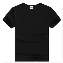 2017 comfort 100% degli uomini del cotone tinta unita v neck t shirt commerci <span class=keywords><strong>all</strong></span>'ingrosso