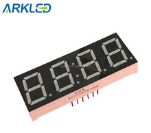 "0.56"" 4 digit clock type anode yellow green color 7 segment LED display"