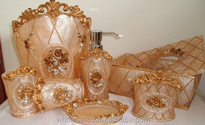 Elegant Royal Bathroom Accessories Set Bath Resin Wash Cup Toothbrush  Holder Gift   Buy Royal Bathroom