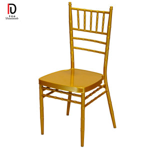 Wholesale Stackable Cheap Gold White Silver Wedding Steel Metal Aluminum Tiffany Chair