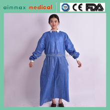 Surgical supplies blue/green disposable biodegradable medical gown