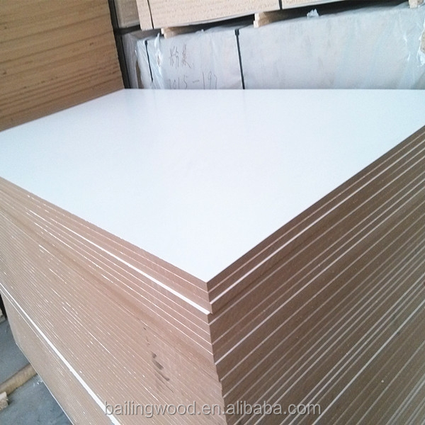 18mm white melamine faced MDF for furniture