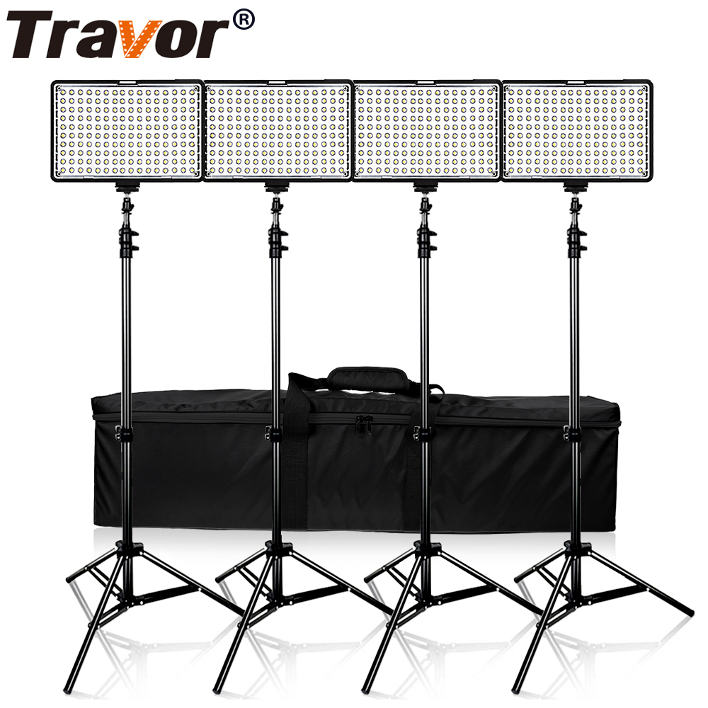 Travor 4 in 1 160 Studio light Dimmable Camera light Panel Digital Camera DSLR Camcorder photography Light with 4pcs Batteries фото