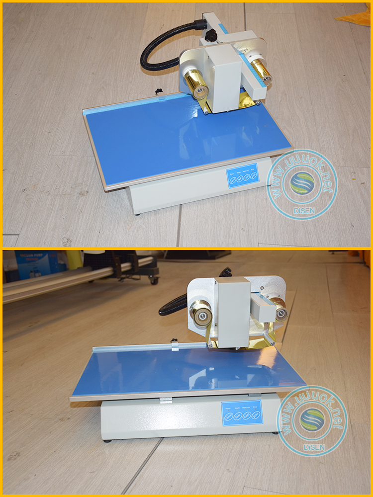 computerized desktop table top paper hot foil stamping machine for invitation paper