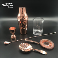 6Pcs 600ml Stainless Steel Cocktail Shaker Bar Set For Bartender Party Bar Tool Gifts Drink Mixer Bar/Party Tool