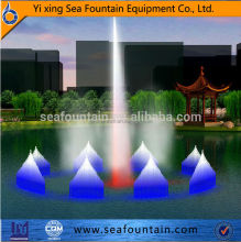 lake floating water fountain colorful fashion outdoor fountain