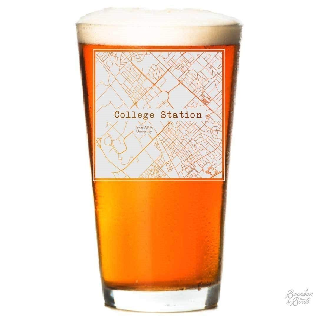 b43b3101bda Get Quotations · College Town Etched Map Beer Glasses (Sets of 2)