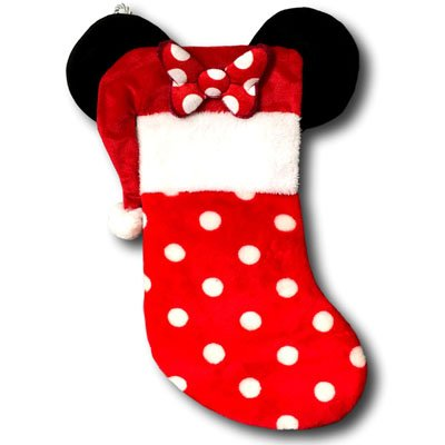get quotations disney minnie mouse christmas stocking with ears 19 inches - Minnie Mouse Christmas Decorations
