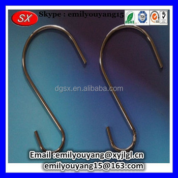 Customized metal s hook customed hanger hook plastic hanger hook in dongguan,RoHS compliant