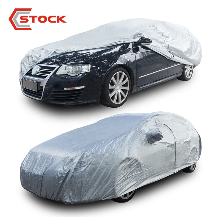 Draagbare Zonnescherm Snowproof Auto Cover Polyester