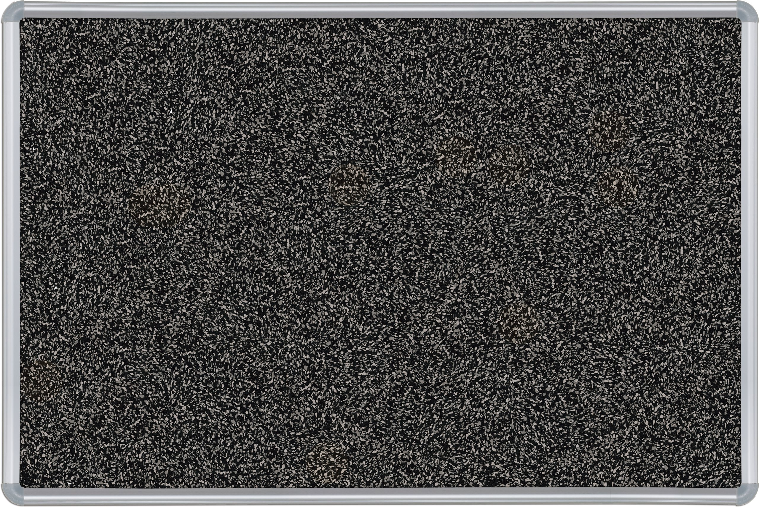 Best-Rite Presidential Trim Rubber-Tak Tackboard, Silver Trim, 33 3/4 x 48 Inches, Black (321PC-96)
