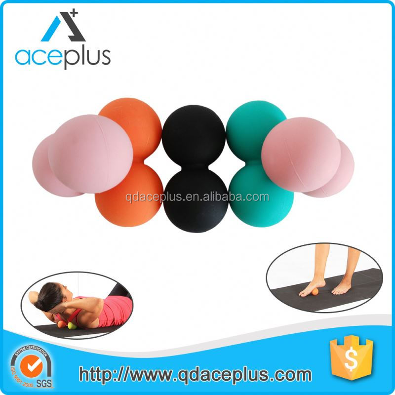 Small Rubber/Silicone Peanut Massage Ball