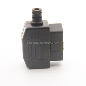 obd case and plug for diagnostic plastic housing obd2 enclosure from andu electronic