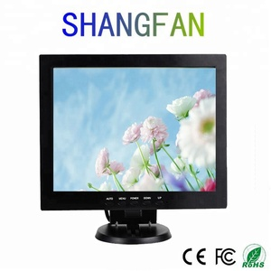 12inch square vandal proof lcd monitor 12'' tv lcd monitor 12 inch tft lcd monitor for Surveillance Security