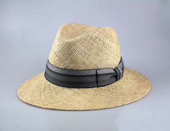 2278060a417 Men s Natural Color Bao Straw Fedora Hats