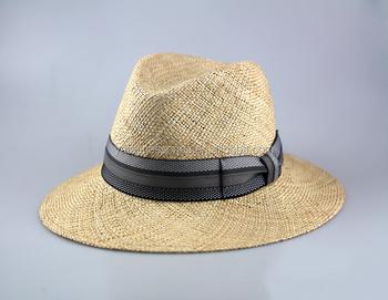 2278060a417 Men s Natural Color Bao Straw Fedora Hats