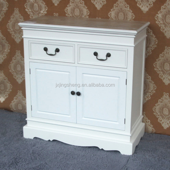 Modern Hand Painted 2 Drawers White Wooden Sideboard Cabinet Buffet 2 Door With Curved Leg Buy Wooden Sideboardsideboard Buffetmodern Sideboard