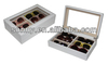 Competitive Price Eco-friendly Fancy White PU Eyewear Display Box