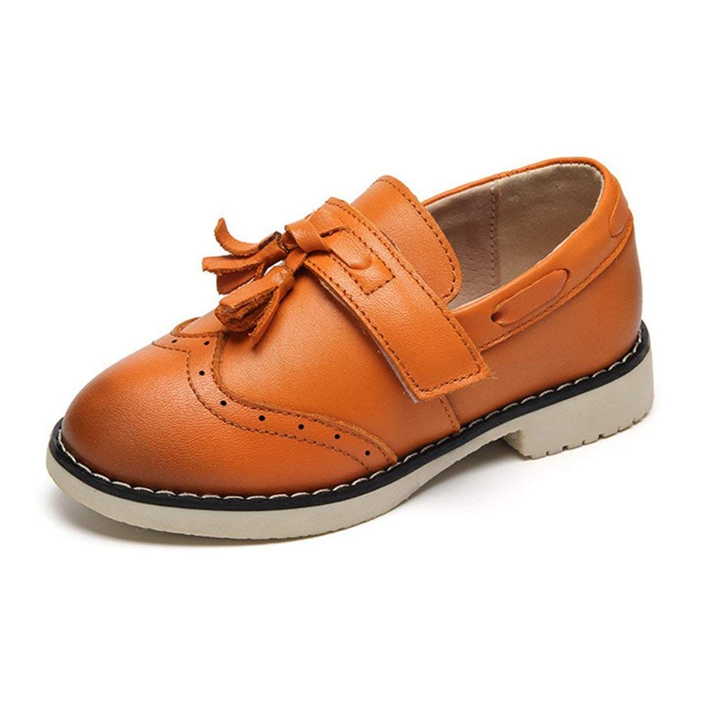 8701bbef9f1 Get Quotations · JINANLIPIN Boys Anti-Slip Tassel Loafer Casual Kids  Comfortable Brogue Oxford Dress Shoes